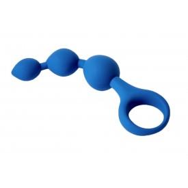 Синие анальные шарики Moons - 13 см.
